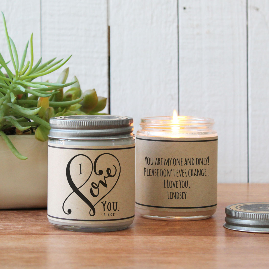 Hello You Valentine's Day Candles